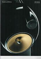 BOWERS & WILKENS 800 Series Diamond audio Katalog Heft  B1213