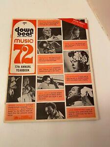 DOWN BEAT  MUSIC '72 1972 17TH ANNUAL YEARBOOK MILES DAVIS CHARLES MINGUS
