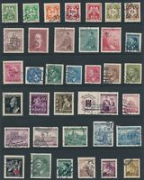 Lot Stamp Germany Bohemia WWII Hitler Prague Red Cross Officials Horse U