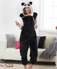 Super Soft Panda Cozy Coveralls Blanket Sleeper One Piece Pajamas Women L 14/16