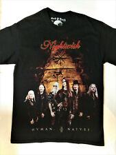 NIGHTWISH T-Shirt RARE Embroidered Logo Tarja Epica Within Temptation Metal Rock