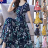 Women Evening Ladies Party Dress Summer Casual Office A line Floral Business