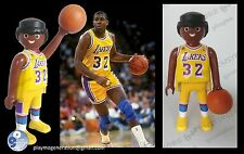 Playmobil custom MAGIC JOHNSON 32 LAKERS BALONCESTO medieval piratas va