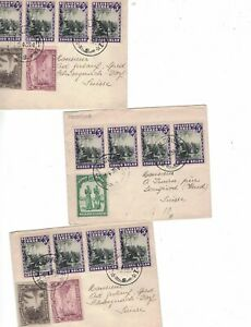 Belgian Congo. 3 older covers, mailed to Switzerland, Nice Stamps, LOOK