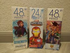 Lot Of (3) Puzzles-48 Pc. Toy Story 4-48 Pc. Frozen ll-24 Pc. Marvel Super Hero