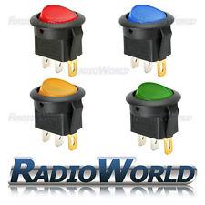4x LED Illuminato Tondo Rocker Interruttore ON/OFF 12 V 16 A LUCE Dash per Auto Furgone