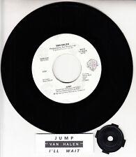 "VAN HALEN  Jump 7"" 45 rpm vinyl record BRAND NEW + juke box title strip"