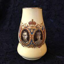 1939 KING GEORGE VI & QUEEN ELIZABETH ~ ROYAL WINTON VASE ~ VISIT CANADA & USA