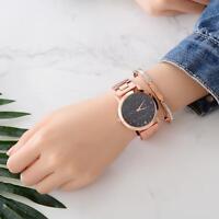 Fashion Women Big Face Stainless Steel Watch Crystal Analog Quartz Wrist Watch