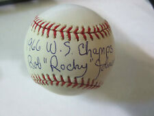 Bob Rockey Johnson Autograph Signed Baseball Baltimore Orioles 1966 WS Champs