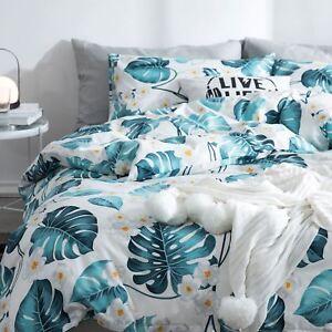 Ruby Tropical 4-Piece Cotton Duvet Cover Set
