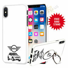Mini V1 Car Phone Case Cover & Finger Ring Stand For Top Mobiles 041-6