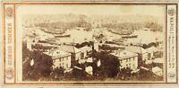 Italia Genoa Panorama Foto G.Sommer, Stereo Vintage Albumina PL62L5
