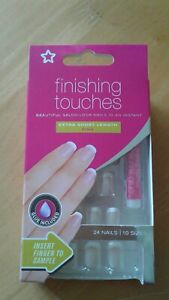 Superdrug False Nails Finishing Touches, Extra Short Pink BNIB