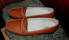 BASS AUTUMN SHOES ROMANA LEATHER WOMENS LOAFER SHOE 9M MOC BRAZIL VGC NICE !