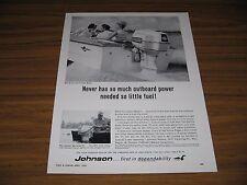 1964 Print Ad Johnson Golden Meteor 90 HP Outboard Motors & 9 1/2 HP