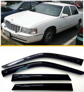 For Cadillac DeVille 1993-1999 Sun Rain Guard Vent Deflectors Window Visors