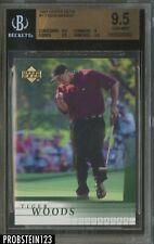 2001 Upper Deck Golf #1 Tiger Woods RC Rookie BGS 9.5 GEM MINT