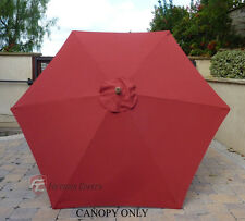 9ft Umbrella Replacement Canopy 6 Ribs in Brick (Canopy Only)