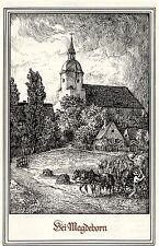 A. Michaelis Leipzig Bei Magdeborn Kunstdruck von 1911