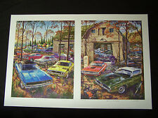 DODGE CHARGER CHALLENGER ROAD RUNNER ART 1968 1969 1971 THEY CAME WITH THE FARM