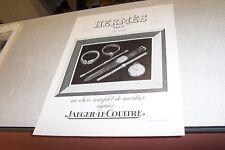 PUBLICITE ANCIENNE DE L ILLUSTRATION 1939 HERMES MONTRE JAEGER LE COULTRE