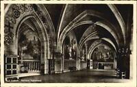 Bad AACHEN um 1940 Rathaus Kaisersaal Gebäude Postkarte alte Ansichtskarte