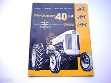 Massey Harris Ferguson 40 Farm Tractor Poster Brochure NICE UNIQUE PIECE