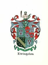 Great Coat of Arms Livingston Family Crest genealogy, would look great framed!