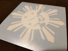 "Philippine Island Sun Star Custom Car Decal Sticker 5"" x 5"""