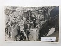 WW2 WWII London Blitz Real Original Photograph Fireman Carrying Bombing Victim