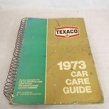 Texaco 1973 Car Care Guide