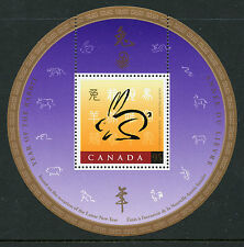 Weeda Canada 1768i VF MNH Souvenir Sheet with China '99 logo, 1999 Rabbit  CV $3