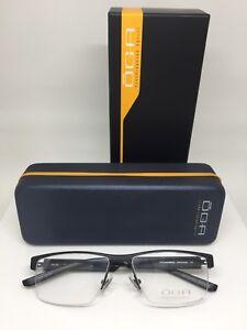 New OGA 76580 Eyeglasses Rx Frames C. NN100 Black Size 55-16mm Made in France