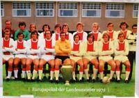 Ajax Amsterdam + Europapokal Landesmeister Winner 1972 Fan Big Card Edition A159