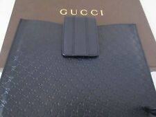 Authentic GUCCI GG Monogram Micro  Guccissima Leather iPad Case Black 256575 NEW