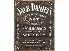 NEW Jack Daniels Woodcut tin metal sign