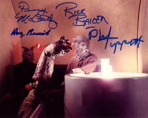 CANTINA SCENE BESWICK BAKER TIPPETT +1 SIGNED 8x10 PHOTO ILM STAR WARS BECKETT