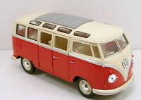 VW VOLKSWAGEN BUS 1:24 Scale Diecast Toy Car Model Die Cast Models Camper Red