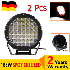2x9 Inch 185W Spot LED Work Light Black Driving Offroad Headlight For SUV 4x4WD