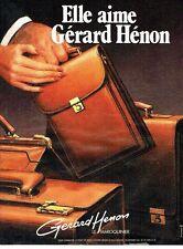 PUBLICITE ADVERTISING 0217  1984  Gérard Henon  maroquinier
