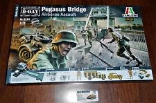 Pegasus Bridge Diorama Set Schlachtfeld D-Day WWII 1944 in 1:72 Italeri 6194 Neu