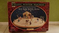 VTG Nativity Scene Magnetic Rink Illuminated Musical Christmas Display - NEW