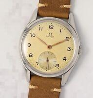 Vintage Jumbo OMEGA 2503, Cal.265 mechanical, steel 36mm case, 1950 gents watch