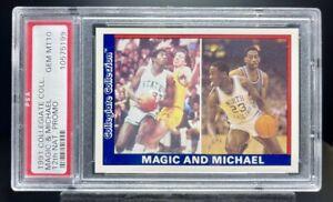 1991 Collegiate 12th National Promo Magic Johnson Michael Jordan PSA 10 GEM MINT