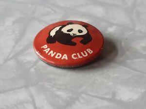 "1960s 1970s Vintage WWF ""Panda Club"" Lapel Pin Badge"