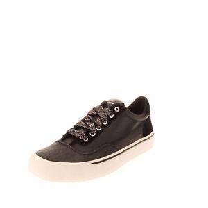 RRP€130 DIESEL S-FLIP LOW W Canvas Sneakers EU 38.5 UK 5.5 US 8 Shiny Treated
