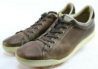 ECCO Men's $160 Street Spikeless Golf Shoes Size EU 47 US 13-13.5 Leather Brown