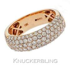 Diamond Half Eternity Wedding Ring 6mm Wide 1.00ct F VS set in 18ct Rose Gold