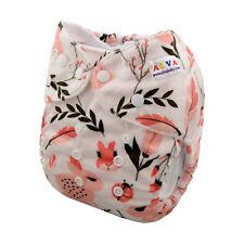 Alva Baby Girl Cloth Pocket Diapers Reusable Nappy +1Insert soft Minky